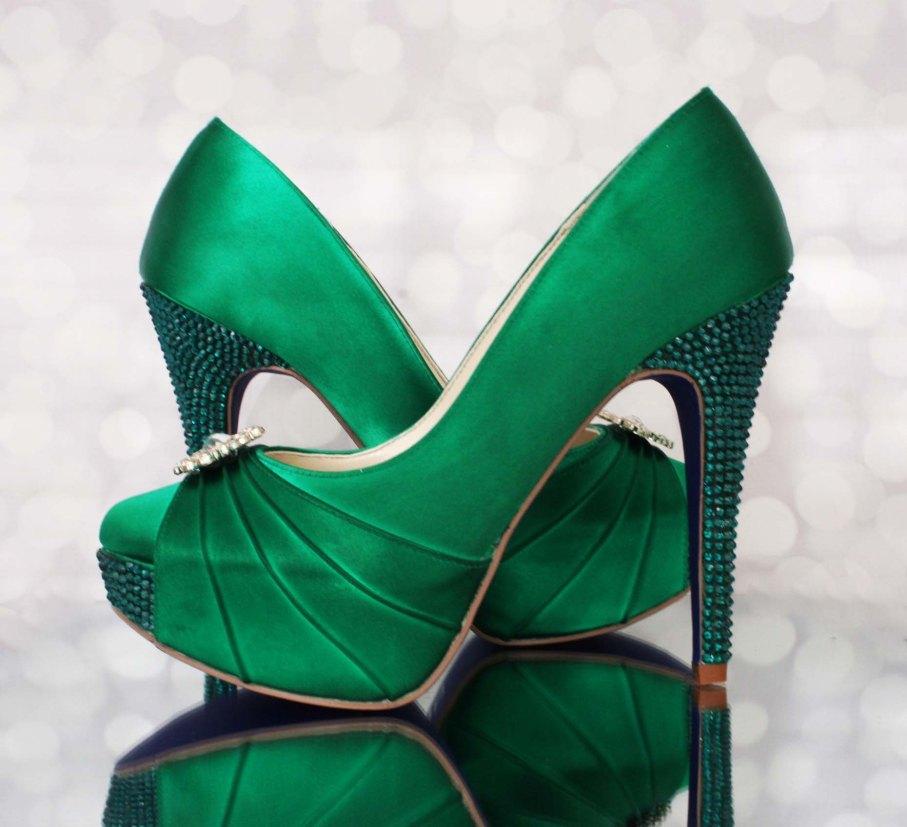 green wedding shoes | Ellie Wren